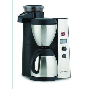 Capresso CoffeeTEAM Therm Stainless Coffeemaker/Burr Grinder Combination