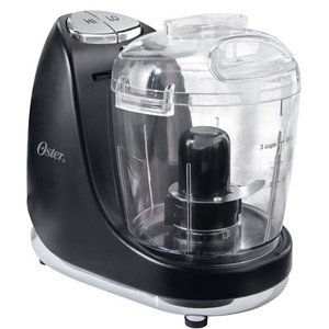Oster 3-Cup Mini Chopper with Whisk, Black -000