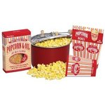 West Bend Red Stove-Top Popper Gift Set