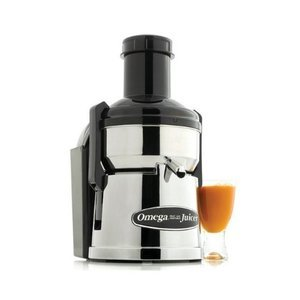 Omega Mega Mouth Pulp Ejection Juicer, Chrome