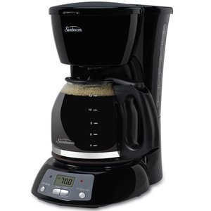 4 Cup Programmable Coffee Maker Review : Sunbeam 12-Cup Programmable Coffeemaker, Black BVSB TGX24 Reviews Viewpoints.com