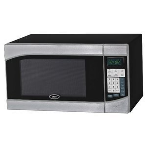 Oster 0.9 Cubic Feet Digital Microwave Oven, Stainless/Black
