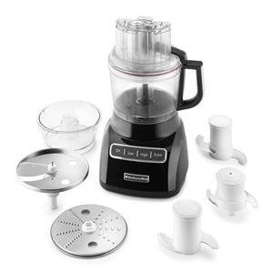 KitchenAid Onyx Black 9-Cup Food Processor with Mini Bowl
