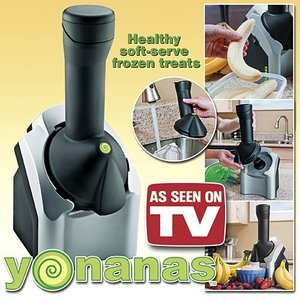 Yonanas Deluxe Ice Cream Treat Maker, Black/Silver 750071