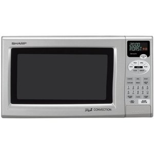 Sharp R-80JS 0.9-Cubic Foot Grill 2 Convection Microwave, Silver R820JS