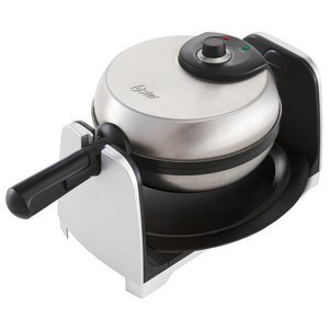 Oster 1-1/2-Inch Thick Belgian Flip Waffle Maker, Brushed Stainless Steel