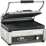Waring Large Italian-Style Panini Grill: Panini Supremo Ribbed Cast Iron Plates