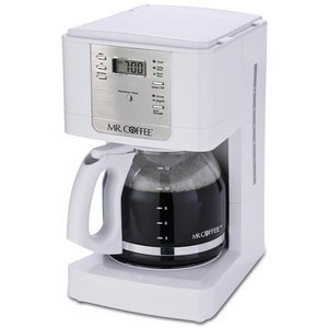 Mr. Coffee 12-Cup Programmable Coffeemaker, White