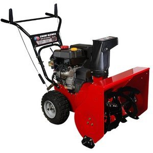 All Power America 24-Inch 208cc 4-Stroke Gas Powered Two Stage Snow Thrower With Electric Start