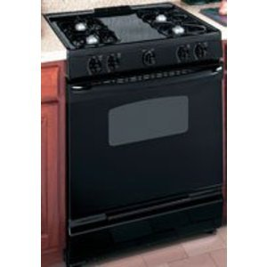 "GE 30"" Black Slide-In Gas Range"