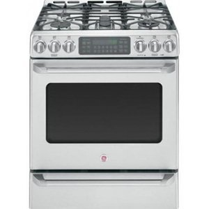 "GE Cafe 30"" Freestanding Dual Fuel Range"