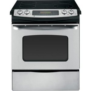 "GE 30"" CleanDesign Slide-In Electric Range"