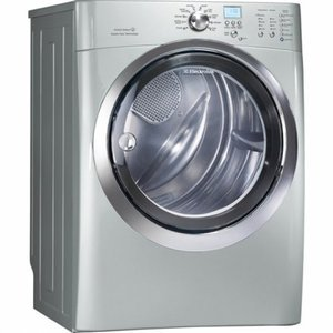 """8.0 cu. ft. Capacity 27"""" Gas Dryer IQ-Touch Electronic Controls Fastest Dry Time Perfect Steam Dryer Luxury-Quiet Sound System: EIMGD60LSS"""