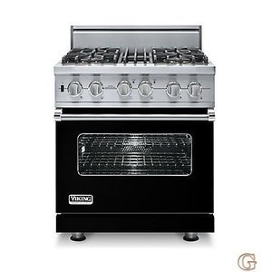 "30"" Custom Sealed Burner Dual Fuel Range, Natural Gas, No Brass Accent VDSC5304BBK"