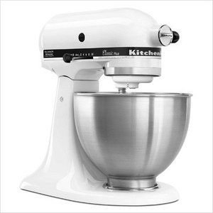 KitchenAid Classic Plus Tilt-Head 4-1/2-Quart Stand Mixer, White