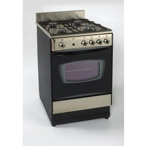 "Avanti Gas Range Freestanding - 20"" Wide - Oven(s) - 4 Cooking Elements - Stainless Steel"
