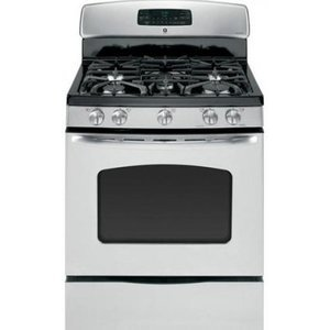 GE 30 Freestanding Gas Range 5 Sealed Burners, 17,000 BTU Burner, Convection, Self-Cln