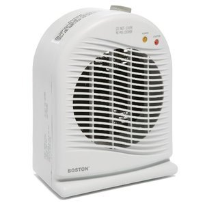 Boston Convection Space Heater with Fan, White