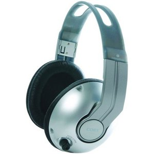 Coby High-Performance Professional Studio Monitor Headphones, Silver