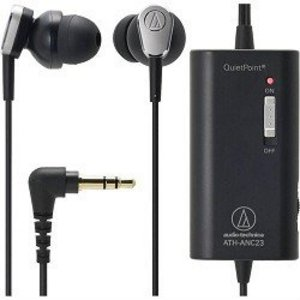 Audio-Technica QuietPoint - Headphones ( in-ear ear-bud ) - active noise canceling ATH-ANC23BK
