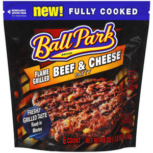 Ball Park Flamed Grill Beef Patty