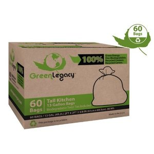 Green Legacy Eco-Friendly Tall Kitchen Trash Bags