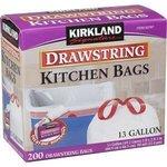 Kirkland Signature Drawstring Kitchen Bags