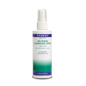 Medline Remedy Basics No-Rinse Cleansing Spray with Aloe