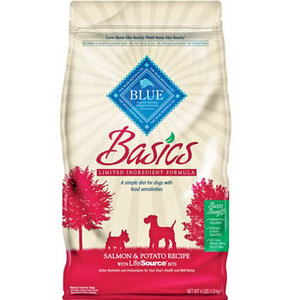 Blue Buffalo Basics Adult Salmon Potato Recipe Dry Dog Food