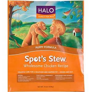 Halo Spot's Stew Puppy Formula Wholesome Chicken Recipe Dry Dog Food