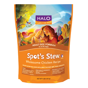Halo Spot's Stew Adult Dog Formula Wholesome Chicken Recipe Dry Dog Food
