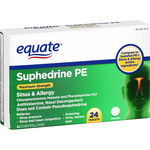 Equate Suphedrine PE Allergy & Sinus Medicine