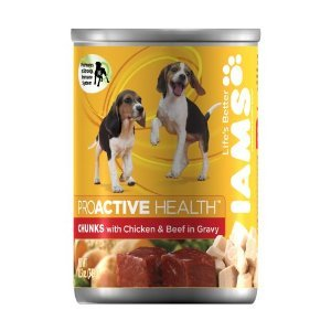 Iams Puppy Chunks with Chicken & Beef in Gravy Canned Dog Food