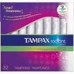 Tampax Radiant Plastic Tampon