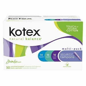 Kotex Natural Balance Security Tampons