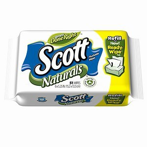 Scott Naturals Flushable Wipes