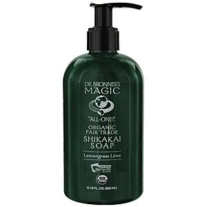 Dr. Bronner's Organic Shikakai Lemongrass Lime Liquid Hand Soap