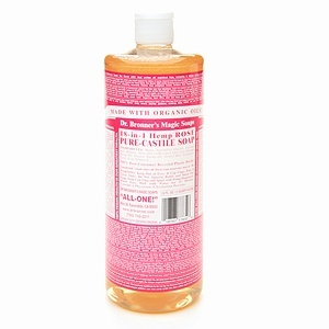 Dr. Bronner's Pure Castile Liquid Soap - Rose