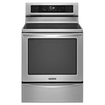 "KitchenAid 30"" Freestanding Electric Convection Range KIRS608BSS"