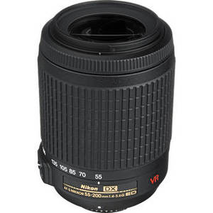 Nikon AF-S DX VR Zoom-Nikkor 55-200mm f-4-5.6G IF - Telephoto Zoom Lens