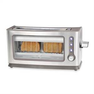 Kalorik 2-Slice Toaster with See-Through Glass Panel