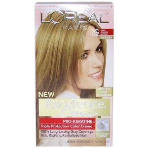 L'Oreal Paris Excellence To-Go 10-Minute Creme Colorant, Dark Golden Blonde