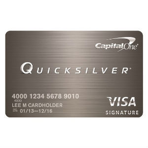 Capital One - Quicksilver Cash Rewards