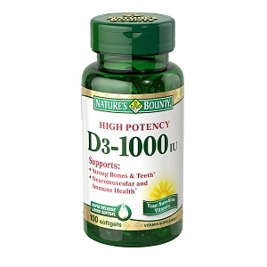Nature's Bounty Vitamin D3 1000 IU Softgels