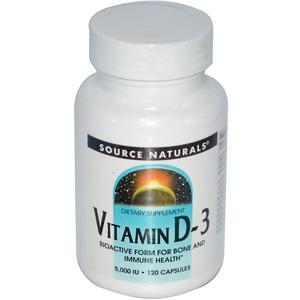 Source Naturals Vitamin D-3 Capsules