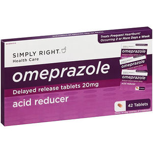 Simply Right Omeprazole Acid Reducer Tablets