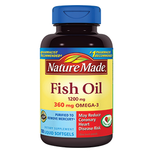 Nature made fish oil omega 3 softgels reviews for Fish oil ratings