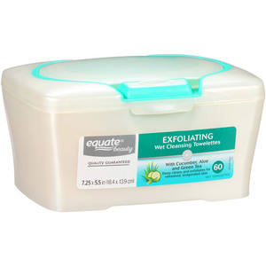 Equate Beauty Exfoliating Wet Cleansing Towelettes