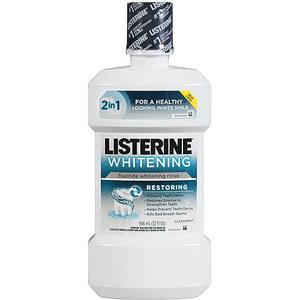 Listerine Whitening Restoring Fluoride Whitening Rinse