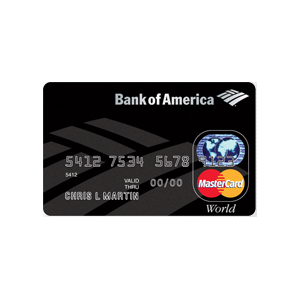 Bank of America - World MasterCard with WorldPoints and PayPass